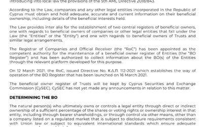 Beneficial Owner (BO) Register